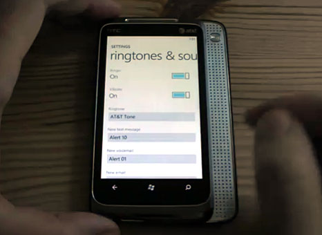 Windows Phone 7 ringtones