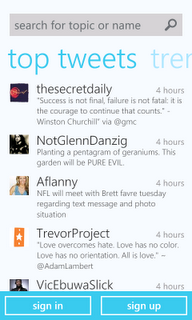 Twitter for Windows Phone 7