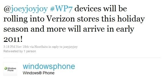 Verizon Windows Phone 7