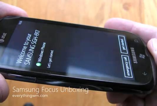 Samsung Focus unboxed