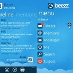 Beezz Twitter app for Windows Phone 7