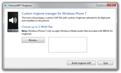 Custom ringtones WP7