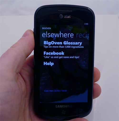 Big Oven for Windows Phone 7