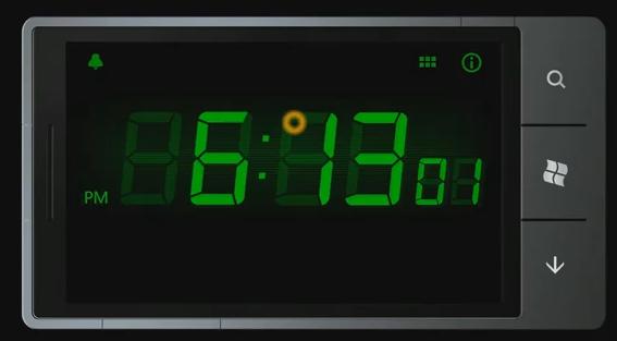 Windows Phone 7 clock