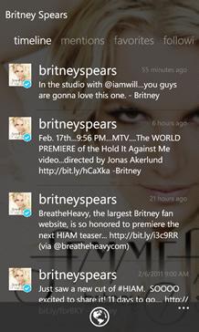 MoTweets Twitter app for Windows Phone 7