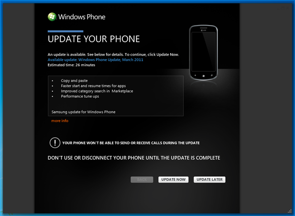 Windows Phone 7 March Update