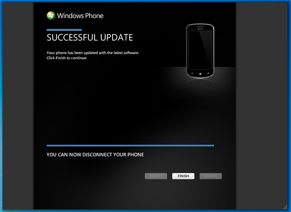 Windows Phone 7 Update Success
