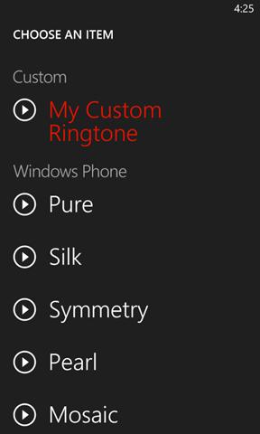 Custom Ringtones Windows Phone Mango