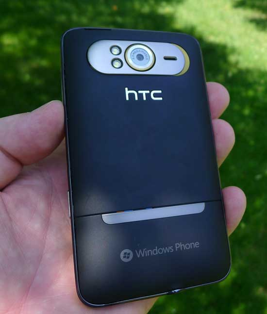 HTC HD7S back