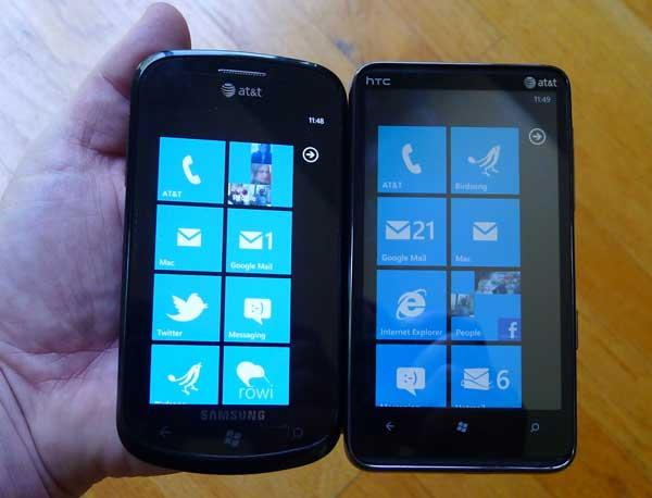 HTC HD7S Samsung Focus
