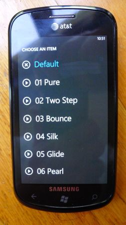 Custom ringtone on Windows Phone 7