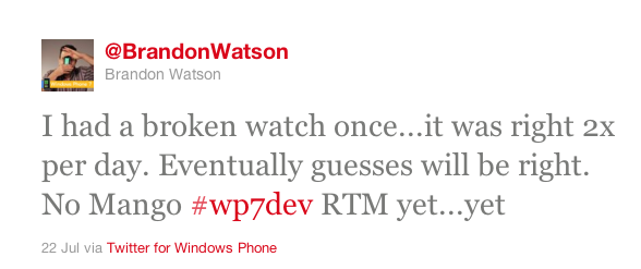 Windows Phone Mango RTM