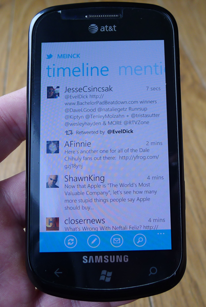 Official Twitter app for Windows Phone 7