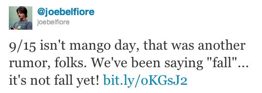 Mango release