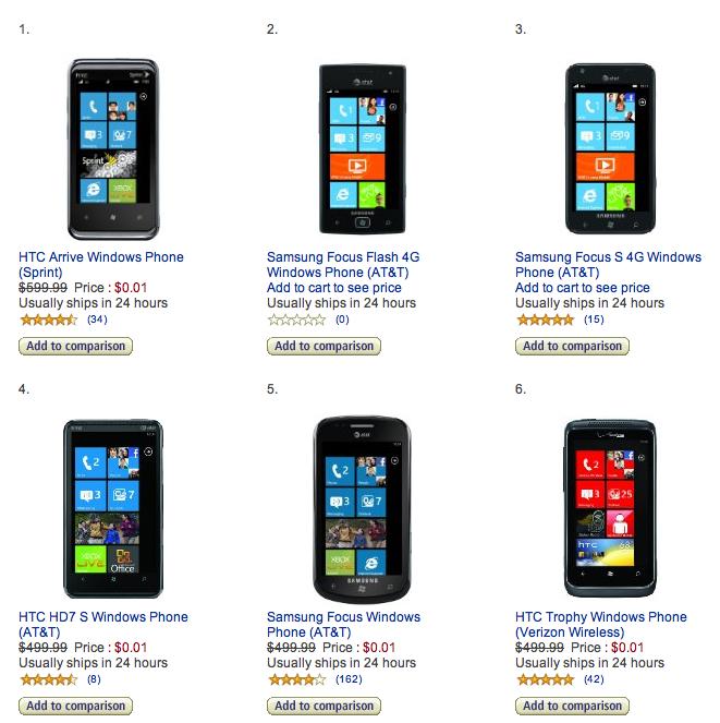 Windows Phone sale