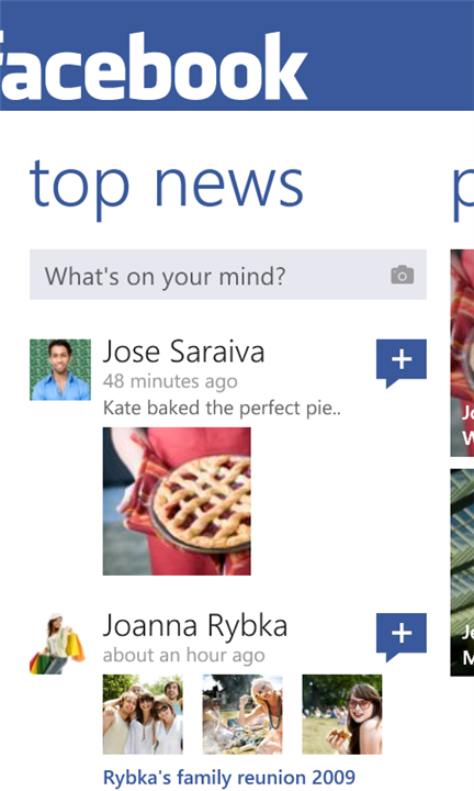 Facebook for Windows Phone