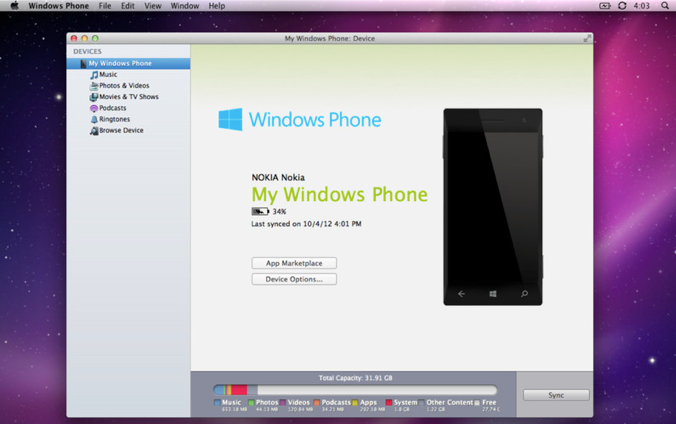 Windows Phone Mac app