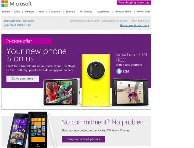 Free Lumia 1020
